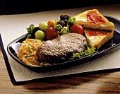 Sirloin Breakfast Steak with Eggs and Fruit; Toast