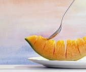 Cantaloupe Wedge with Spoon