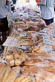 Assorted Homemade Breads at Outdoor Market