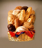 Assorted Bread Loaves in a Basket