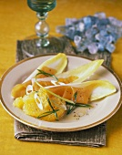 Endive Salad with Salmon and Oranges