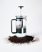 Pot of French Press Coffee