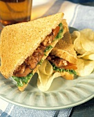 BLT with Chips and Iced Tea