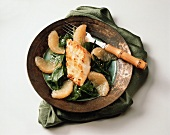 Miso Cod with Grapefruit and Spinach
