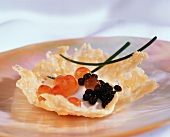 Caviar and Sour Cream Hors d'oeuvre