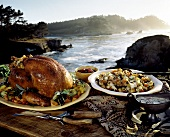 Turkey with Stuffing and Gravy on the Coast in Monterey