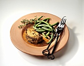 Roasted Pork with Green Beans