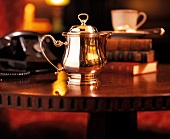 Silver Teapot at the Algonquin Hotel in NYC