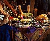 Girl at Christmas Dinner Table