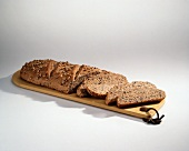 Loaf of Sunflower Bread with Slices