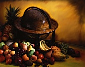 Assorted Fresh Fruit next to a Globe
