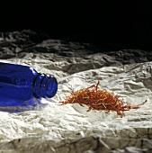 Saffron with Cobalt Bottle