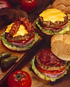 "A Cheeseburger, a Bacon Cheeseburger and a Pastrami Burger"""