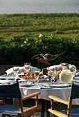 Outdoor Table Setting with Ocean View