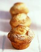 Three Low Fat Apple Walnut Muffins