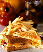 Grilled Egg, Bacon and Cheese Sandwich