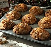 Honey Walnut Muffins in Muffin Pan