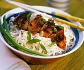 Teriyaki Chicken Over Soba Noodles