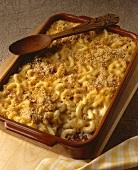 Macaroni and Cheese als Nudelauaflauf