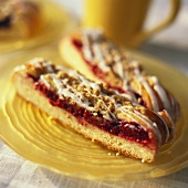 Slices of Coffee Cake with Berry Filling