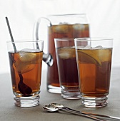Three Glasses and a Pitcher of Iced Tea
