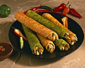 Spinach and Squash Chicken Taquitos