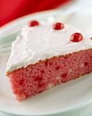 A Slice of Strawberry Cake