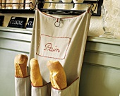 "Baguettes in a ""Pain"" Cloth Bread Bag"