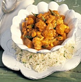 Curried Vegetable Stew with a Side of Rice