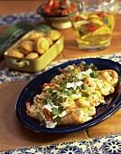Shrimp Enchiladas with Corn Muffins