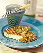 Grilled Swordfish w/Pineapple Salsa