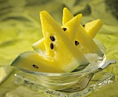 Slices of Yellow Watermelon