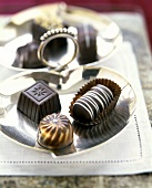 Chocolates on a Silver Tray