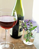 A Glass of Pinot Noir; Flowering Sage