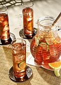 Sangria in Pitcher with Glasses