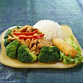 Garlic Pepper-Pork with Brocolli