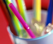 Straws: Multicolored and Out of Focus
