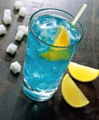 Blue Cocktail in a Tall glass