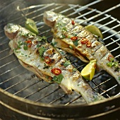 Two Whole Trout on the Grill with Lime & Chiles