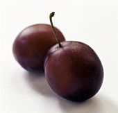 Two Victoria Plums