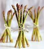 Tied Bunches of Asparagus