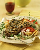 Grilled Tuna and Salad
