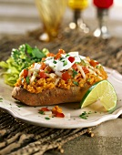 Spicy Stuffed Sweet Potato