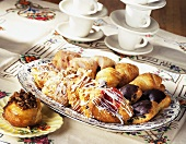 A Platter of Assorted Breakfast Rolls and Danish