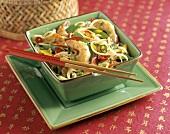 Oriental Shrimp with Noodles and Vegetables