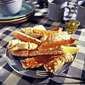 A Plate of Alaskan King Crab Legs