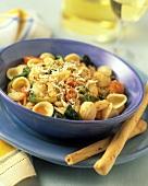 Orecchiette con la rucola (Orechiette with tomatoes & rocket)