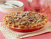 Sourcream Apple Pie with Walnuts