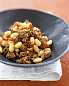 Sausage with White Beans, Tomato and Sage