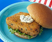 A Fish Fillet Sandwich with Tartar Sauce